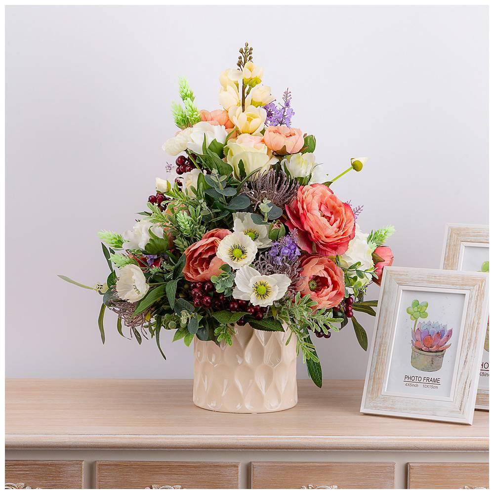 Серпухов, композиция цветов на открытке